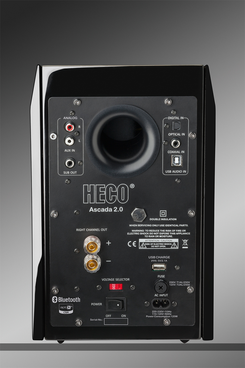 HECO Ascada 2.0 BTX piano black SET