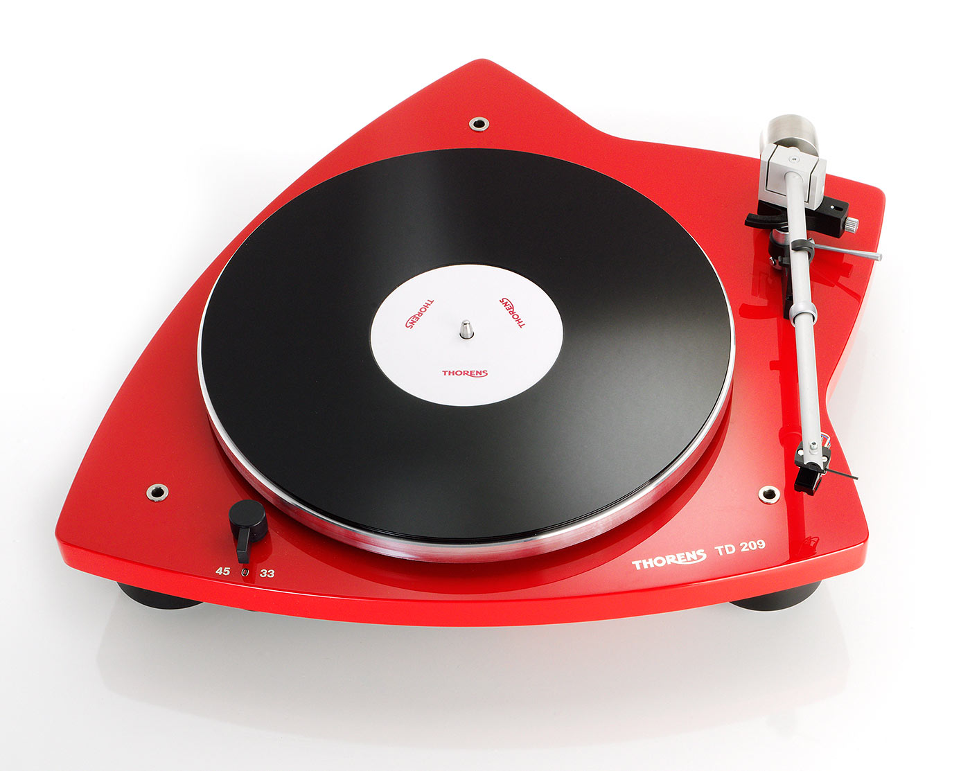 Thorens TD 209 highgloss red