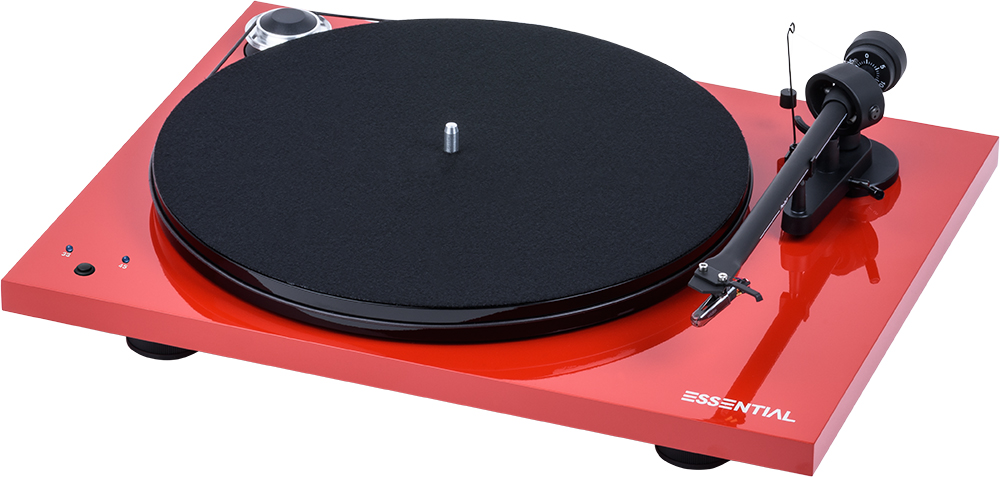 Pro-Ject Essential III RecordMaster (Ortofon OM 10) piano red