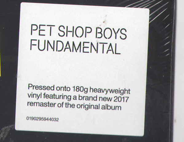 Pet Shop Boys - Fundamental (0190295944032)