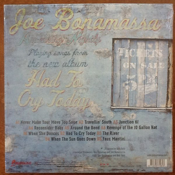 Joe Bonamassa - Had To Cry Today (PRD 7146 1)