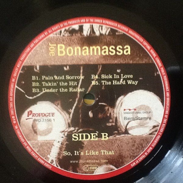 Joe Bonamassa - So It's Like That (PRD 7156 1)