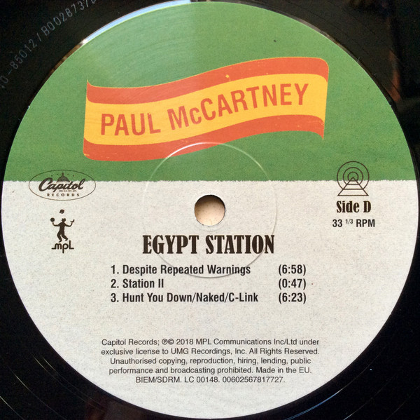 Paul McCartney - Egypt Station (00602567545033)