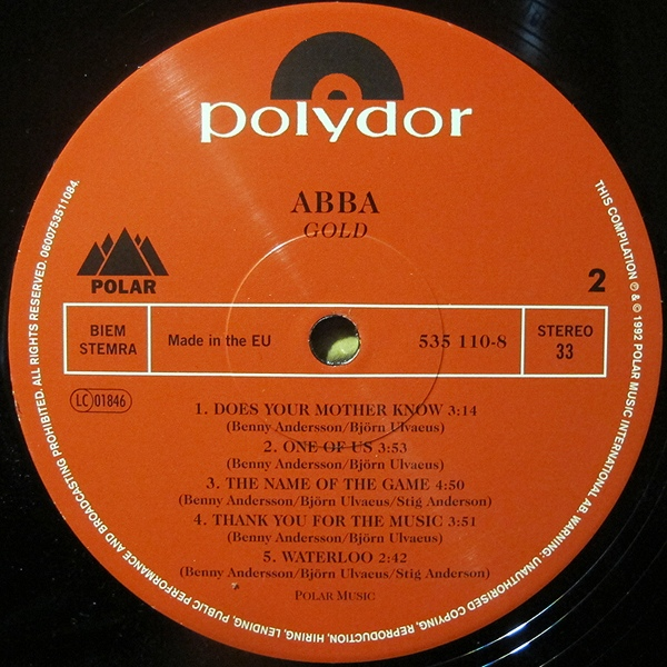 Abba - Gold [Greatest Hits] (535 110-6)