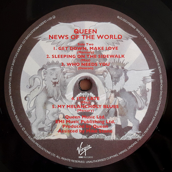 Queen - News Of The World (00602547202727)