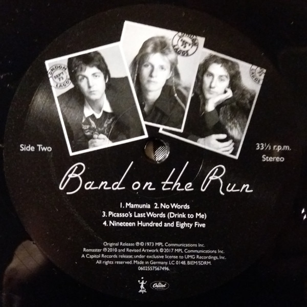 Paul McCartney and Wings - Band On The Run (0602557567496)